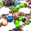 Fragment natural material lady's bead closeup — Stock Photo