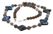 Glass lady's bead closeup — Stock Photo