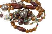 Fragmentieren Sie Edelstein Damen Perlen — Stockfoto