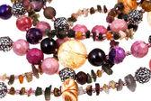 Fragment gemstone lady's bead closeup — Stock Photo