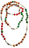 Natural material lady's bead closeup — Stock Photo