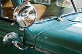 Green retro car close up — Stock Photo