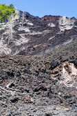 Hardened lava flow on slope of volcano Etna, Sicily — Stock Photo