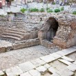 Antique roman amphitheater Odeon, Taormina, Sicily - Stock Photo