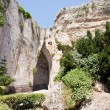 Cave Ear of Dionysius in Syracuse, Italy - Stock Photo