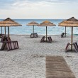 Empty Ionian sea beach - Stock Photo