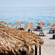 Ionian sea beach in summer day - Stock Photo