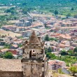 Medieval chapel and seacoast in Sicily - Stock Photo