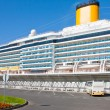 Stock Photo: Cruise liner in port