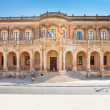 View of the Noto town hall - Stock Photo