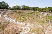 Antique Roman amphitheater in Syracuse, — Stock Photo
