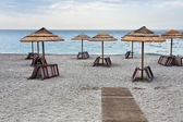 Empty Ionian sea beach — Stock Photo
