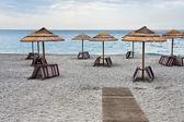 Empty Ionian sea beach — Stock Photo