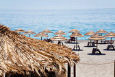 Ionian sea beach in summer day — Stock Photo
