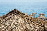 Ionische zee strand in zomerdag, sicilië — Stockfoto