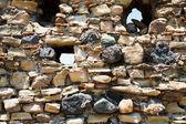 Mur de pierre de l'ancien château — Photo