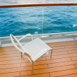 Textile chair on balcony of cruise liner - Stock Photo