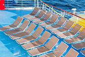 Outdoor relaxation area on cruise liner — Stock Photo