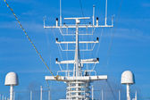 Navigation antenna of cruise liner — Stock Photo