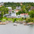 Small swedish village - Stock Photo