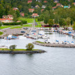 Small swedish village in Stockholm suburb - Stock Photo