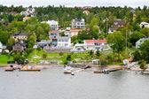 Small swedish village — Stock Photo