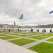 Waterfront near Stockholm City Hall, Sweden - Stock Photo