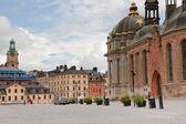 """Placu w pobliżu riddarholmskyrkan """"(rycerzy kościoła) w sztokholmie — Zdjęcie stockowe"""