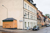 Old scenic street Fjallgatan in Stockholm city, Sweden — Stockfoto