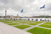 Waterfront near Stockholm City Hall, Sweden — Stock Photo