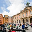 Swedish Academy and Nobel Museum on Stortorget square in Stockholm — Stock fotografie #7494762