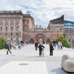 Постер, плакат: View on sweden Riksdag building