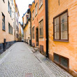 Street in old town Galma Stan, Stockholm - Stock Photo