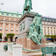 Statue of Gustavus Adolphus at Gustav Adolfs torg, Stockholm — Stock Photo