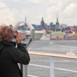 View on Stockholm city in autumn day — Stock Photo