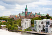 Municipal houses and hospital in Stockholm, — Stock Photo