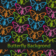 Stock Vector: Butterflies background