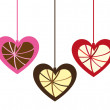 Royalty-Free Stock Vector Image: Cute  hanging hearts