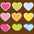 Stock Vector: Cute hearts
