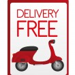 Delivery free sign — Stock Vector