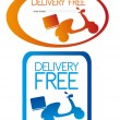 Delivery free stickers — Stock Vector