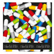 Pills background — Stock Vector