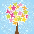 Royalty-Free Stock Vector Image: Star tree
