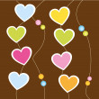 hanging hearts   — Stock Vector