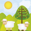 Royalty-Free Stock Vector Image: Sheeps