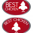 Best chicken tags — Stock Vector