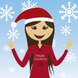 Girl christmas — Stock Vector