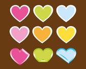 Coração bonita — Vetorial Stock