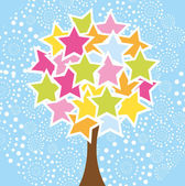 Star tree — Stock Vector