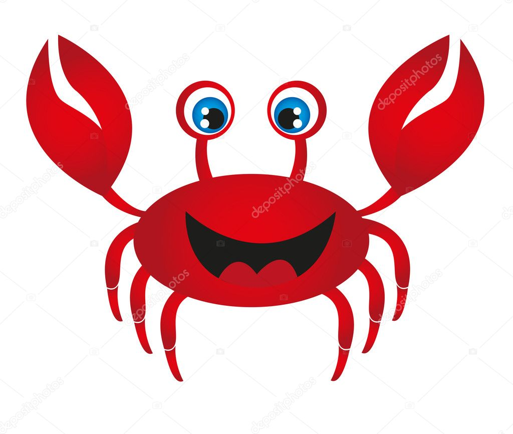 Red crab cartoon — Stock Vector © grgroupstock #7050279